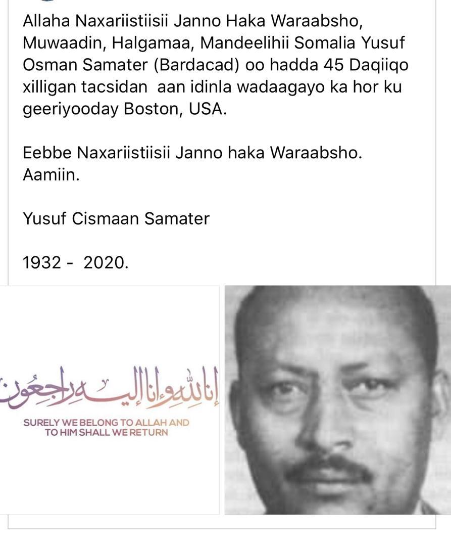 Yuusuf Cismaan Samater Bardacad