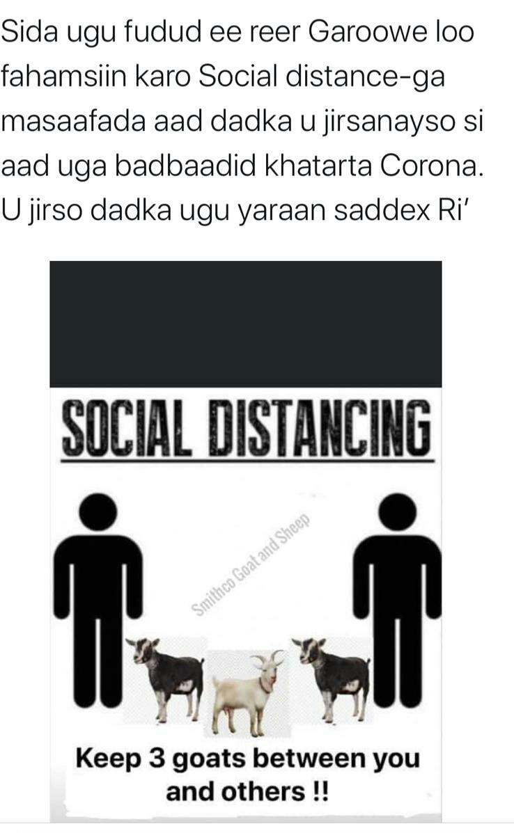SOCIAL DISTANCING IN GAROWE, PUNTLANDSTATE