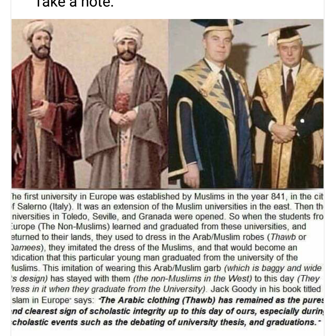 DRESS CODE OF ANCIENT UNIVERSITY GRADUATES